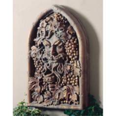 Winegod Window Faux Stone Wall Art