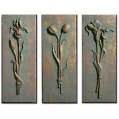 Florals Set of 3 Wall Art Pieces