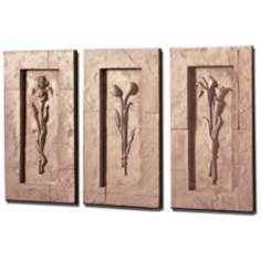 Florals Framed Set of 3 Wall Art Pieces