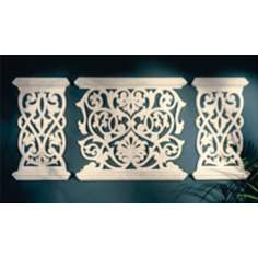 Balcony Grille Set of 3 Wall Art Panels