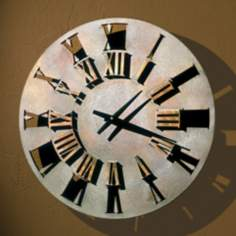 "Roman Numerals 22"" Wide Battery Powered Wall Clock"