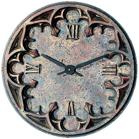 "Gothic 22"" Wide Battery Powered Wall Clock"