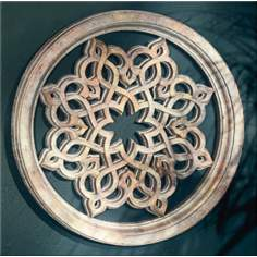 "Persian Star Round Grille 30"" Wide Wall Art"