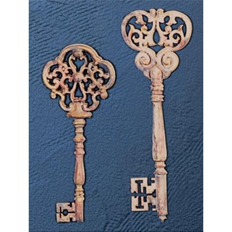 Set of 2 French Keys Small I Wall Art Pieces