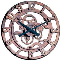 "Gears of Time 22"" Wide Battery Powered Wall Clock"