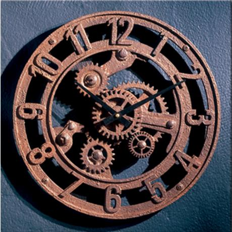 "Gears of Time 14"" Wide Battery Powered Wall Clock"