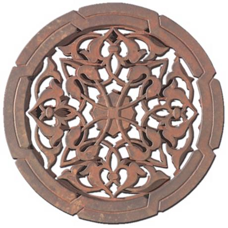 "Moorish Grille 22"" Wide Wall Art Piece"