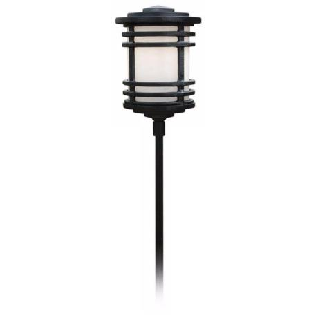"Black Mission Lantern 31"" High Path Light"
