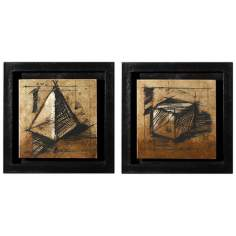 Set of 2 Sienna Shadowbox Wall Art Pieces