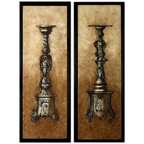 Sienna Framed Candle Holders Set of 2 Wall Art Pieces