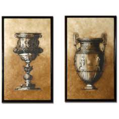 Set of 2 Sienna Framed Goblet and Urn Wall Art Pieces