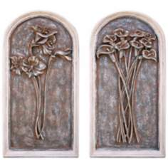 Colmar Florals Set of 2 Wall Art Panels