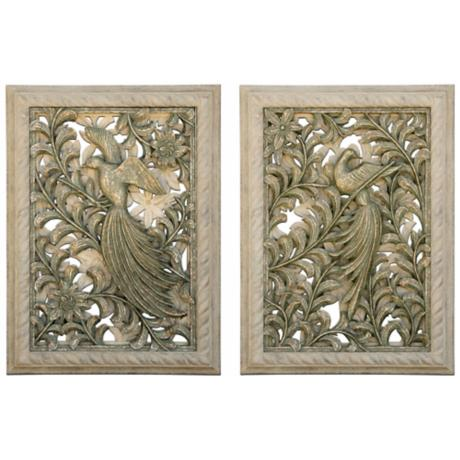 Kepuhi Bird Set of 2 Wall Art Panels
