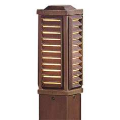 "Rustic Bronze Square 35 1/4"" High Path Light with Louvers"