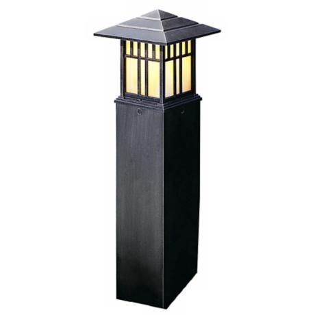 "Mission Style Column 33 1/2"" High Path Light"