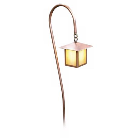 "Copper and Honey Opal Glass Lantern 27 3/4"" High Path Light"