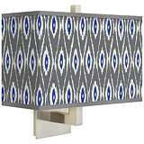 American Ikat Rectangular Giclee Shade Wall Sconce