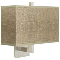 Burlap Print Rectangular Shade Wall Sconce