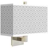 Diamonds Rectangular Giclee Shade Wall Sconce