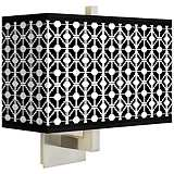Matrix Rectangular Giclee Shade Wall Sconce