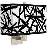 Sketchy Rectangular Giclee Shade Wall Sconce