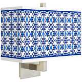 Indigo Path Rectangular Giclee Shade Wall Sconce