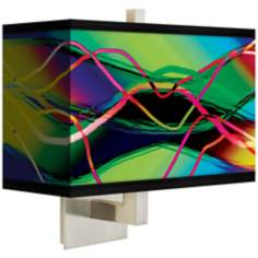 Colors in Motion (Light) Rectangular Giclee Shade Wall Sconce