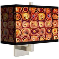 Vibrating Colors Rectangular Giclee Shade Wall Sconce