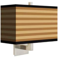 Butterscotch Parallels Rectangular Giclee Shade Wall Sconce