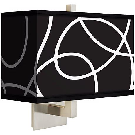 Abstract Rectangular Giclee Shade Wall Sconce
