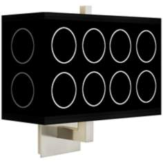Portholes Rectangular Giclee Shade Wall Sconce