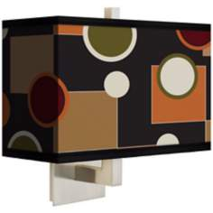 Retro Medley Rectangular Giclee Shade Wall Sconce