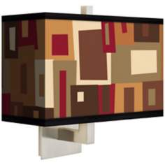 Earth Palette Rectangular Giclee Shade Wall Sconce