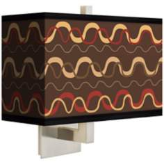 Wave Stitch Rectangular Giclee Shade Wall Sconce