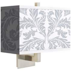 Silver Baroque Rectangular Giclee Shade Wall Sconce