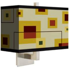 Windows Rectangular Giclee Shade Wall Sconce