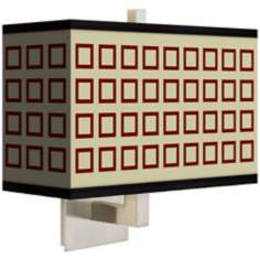 Simply Squares Rectangular Giclee Shade Wall Sconce