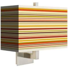 Stacy Garcia Lemongrass Stripe Rectangular Shade Wall Sconce