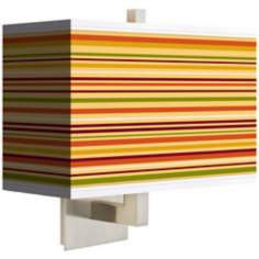 Stacy Garcia Harvest Stripe Rectangular Shade Wall Sconce