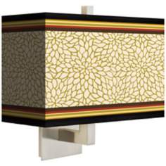 Stacy Garcia Spice Dahlia Rectangular Shade Wall Sconce