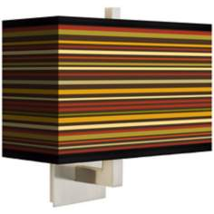 Stacy Garcia Spice Stripe Rectangular Shade Wall Sconce