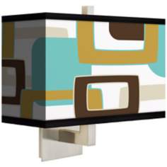 Countess Retro Rectangles Rectangular Giclee Shade Wall Sconce