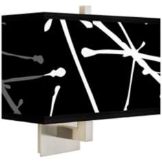 Stacy Garcia Calligraphy Tree Black Rectangular Shade Wall Sconce