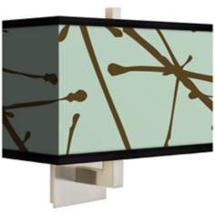 Stacy Garcia Calligraphy Tree Ice Rectangular Shade Wall Sconce