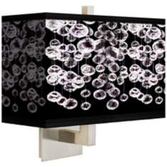 Shimmer Rectangular Giclee Shade Wall Sconce