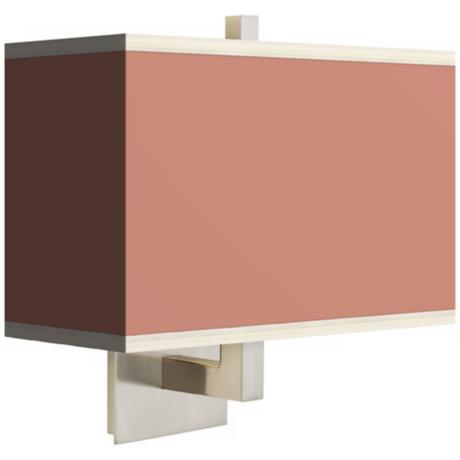Constant Coral Rectangular Giclee Shade Wall Sconce