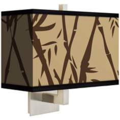 Earth Bamboo Rectangular Giclee Shade Wall Sconce
