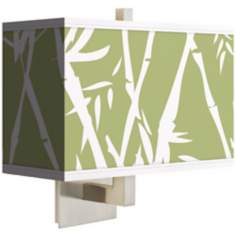 Lush Bamboo Rectangular Giclee Shade Wall Sconce