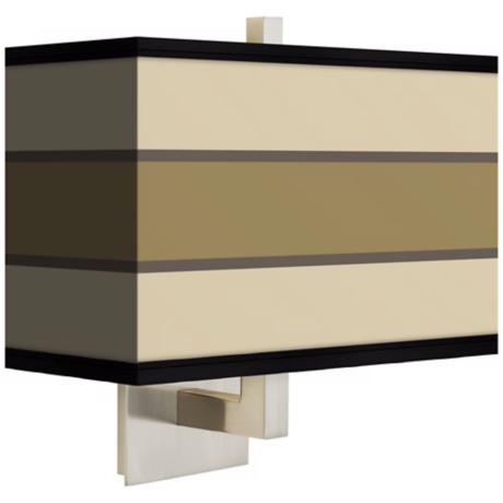 Tones of Beige Rectangular Giclee Shade Wall Sconce