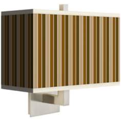 Umber Stripes Rectangular Giclee Shade Wall Sconce